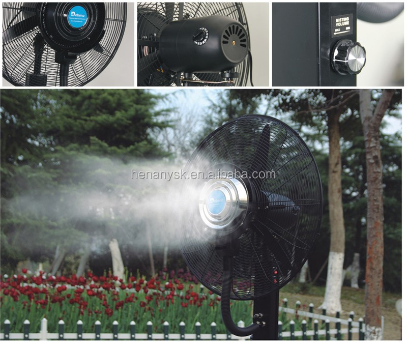 Industrial Bottle Air to Heat Exchanger Cooler Water Spray Mist Fan with Atomizer Stand