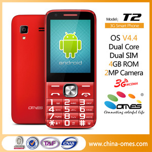 2 8 inch 3G android smart bar phone, android smartphone with touch screen  and keypad, MTK6572 dual core