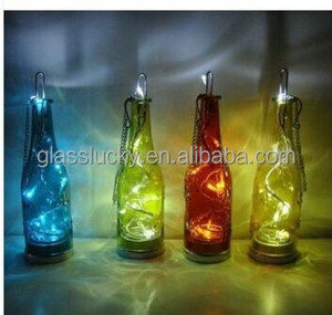 Christmas gift LED Light Insert Mercury Glass Bottle votive Glass Bottle with LED Light Wholesale