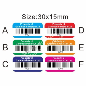 Custom Personal Property Identification Labels With