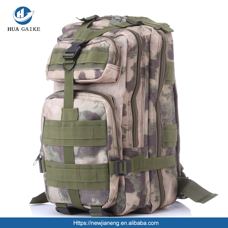 Manufacturer wholesale outdoor sports camouflage backpack military fans climbing hiking bag shoulder tactical backpack