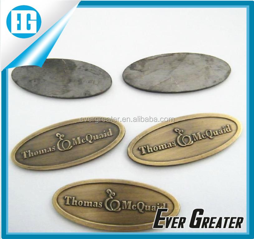 Custom embossed badge metal stickers logo