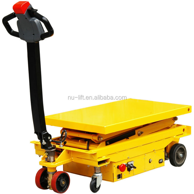Self Propelled Electric Hydraulic Scissor Lift Table Truck