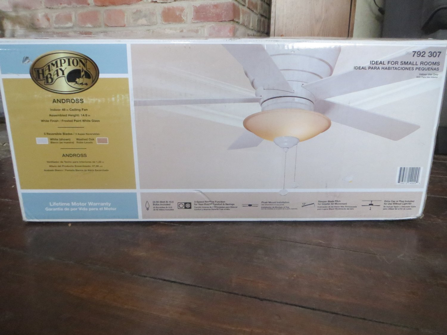 Cheap hampton bay ceiling fan white find hampton bay ceiling fan get quotations hampton bay andross 48 in white ceiling fan aloadofball Image collections