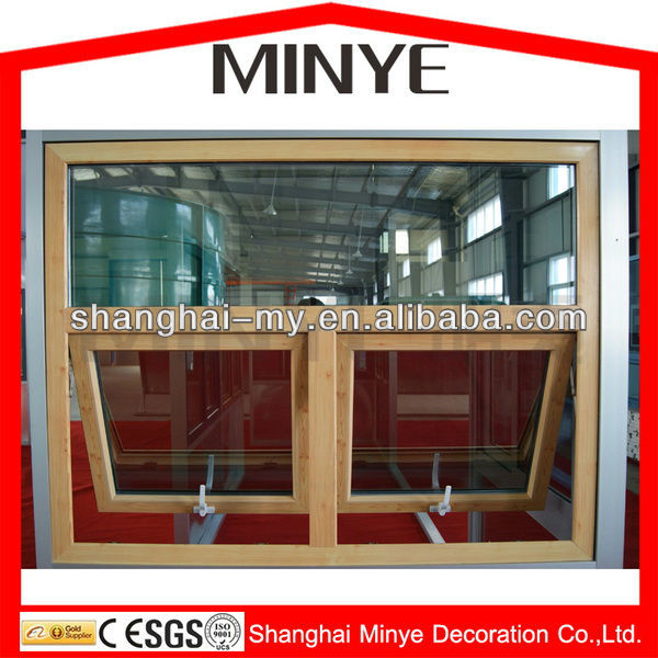 WOOD GRAIN COLOR ALUMINUM DOUBLE HUNG WINDOWS WITH TOP FIXED WINDOWS/HIGH QUALITY DOUBLE HUNG WINDOWS