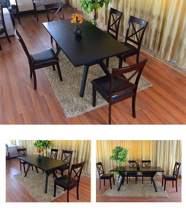 Long Narrow Dining Table: European Style Solid Wood Long Narrow Dining Table