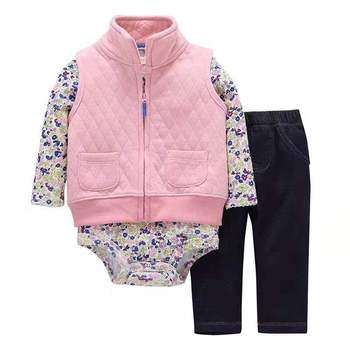 Boutique latest design kids new born clothing baby clothes sets