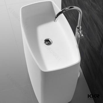 Feste Oberfläche Ecke Waschbecken Lange Schmale Waschbecken Waschen
