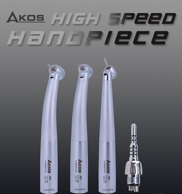 Foshan diş ekipmanları fiber optik yüksek hızlı türbini handpiece mobil diş ünitesi