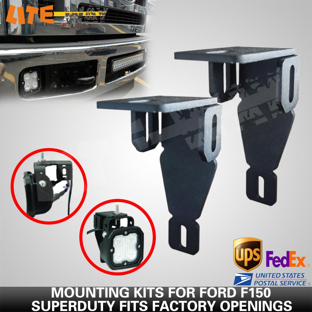 99-14 For Ford Superduty Led Fog Light Mounts Brackets Kit For F ...