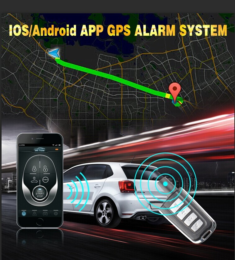 New arrived GPS TRACKER CHIP ALARM APP 105AP control all function via phone software