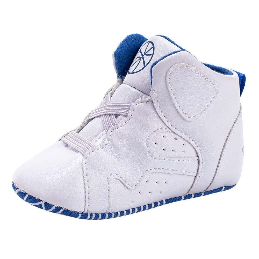 Baby Winter Warm Boots,Jchen(TM) Newborn Toddler Baby Boy Basketball Geometric Soft Sole Boot Casual Shoes First Walking Shoes for 0-18 Months (Age: 0-6 Months, White)