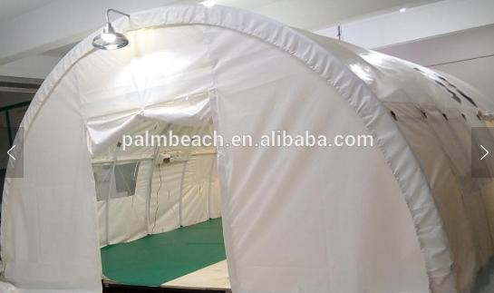 Air Conditioned Luxury 20 Person Refugee,Emergency Relief UNHCR Family Dome Tent with LED Light,Bulb, Marine Plywood