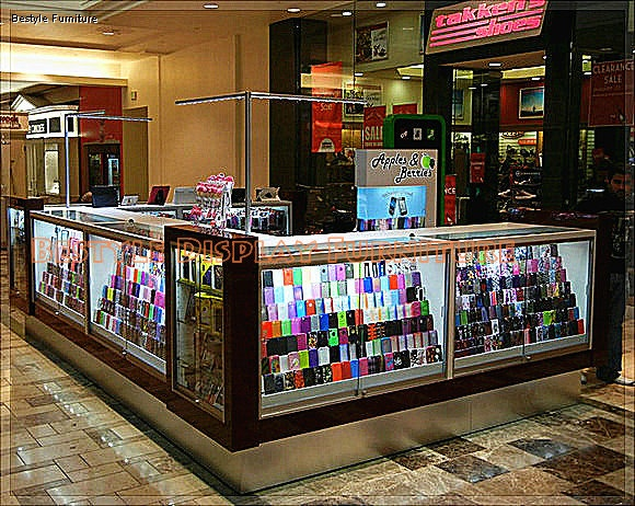 Names Mobile Phone Shop Interior Design Display Showcase Counter With Lighting