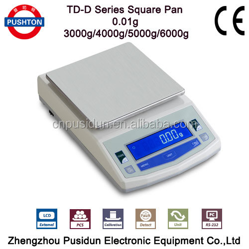 Pushton TD-D LCD 0.01g display Electric weighing scale Electronic precision <strong>balance</strong> Lab digital analytical <strong>balance</strong>