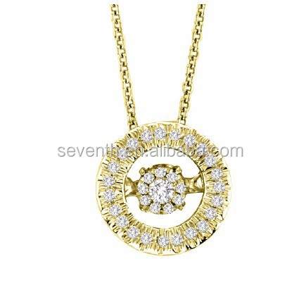 Meaningful Pendant Necklace with Elegant Dancing Stone Pave Setting For Dancing Party