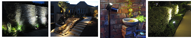 LED Garden Spotlight IP65 Waterproof Landscape light led garden light with Spike