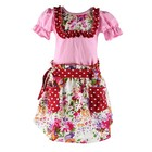 New least wholesale little girls cotton summer bib big flower boutique dresses for kids