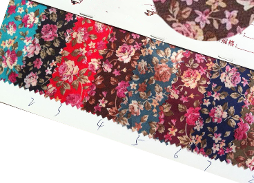 100% polyester pastoral style small floral printed cloth fabric dark ground to lamilate eva and insole board