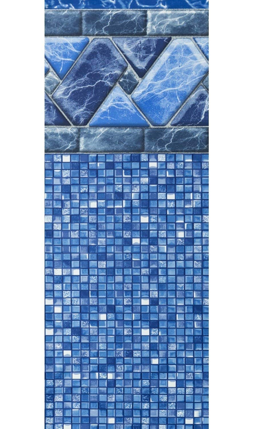 52-Inch Wall Height Designed for Steel Sided Above-Ground Swimming Pools Smartline Stone Harbor 27-Foot Round Liner 20 Gauge Virgin Vinyl UniBead Style