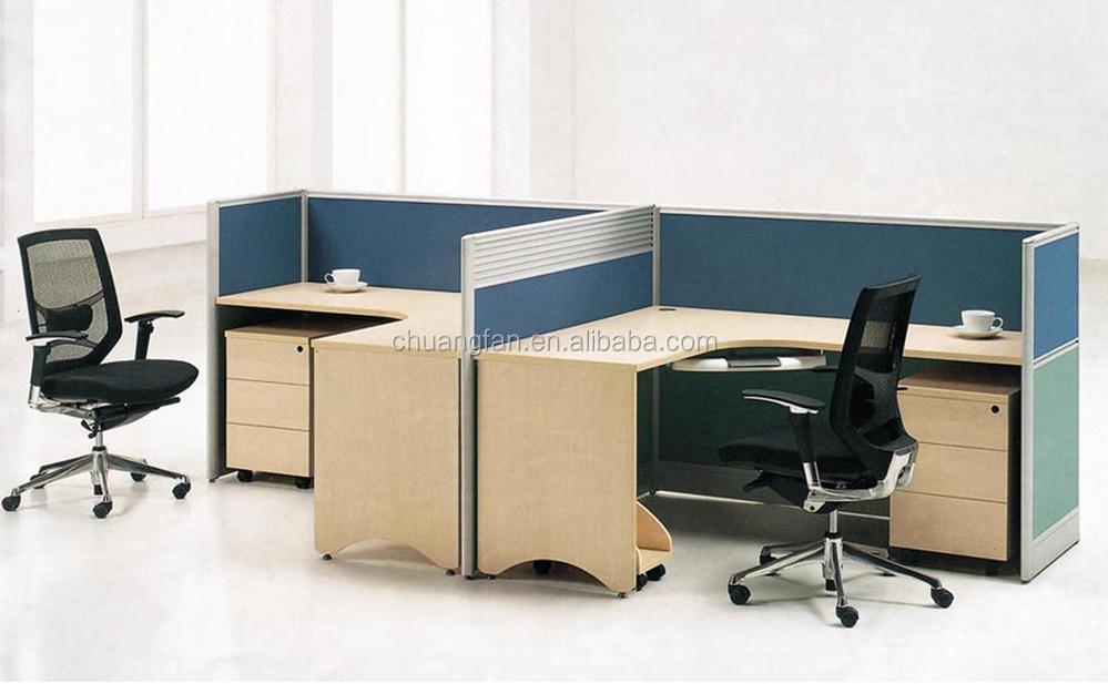 Absorberende kantoor verdelers om gezicht 2 zitplaatsen for Ladeblok in karton