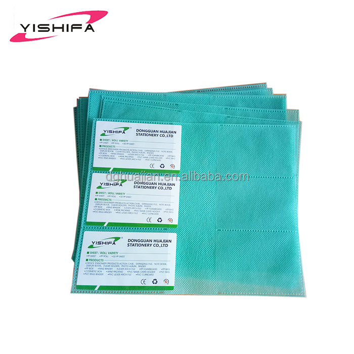 Hot sale nonwovens sheet protector with plastic pockets from Dongguan Manufacturer