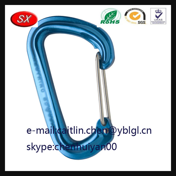 China Manufacturer zinc alloy Black Diamond Oval Carabiner