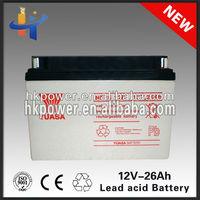 GEL 26ah Guangzhou Maintenance Free battery Charger