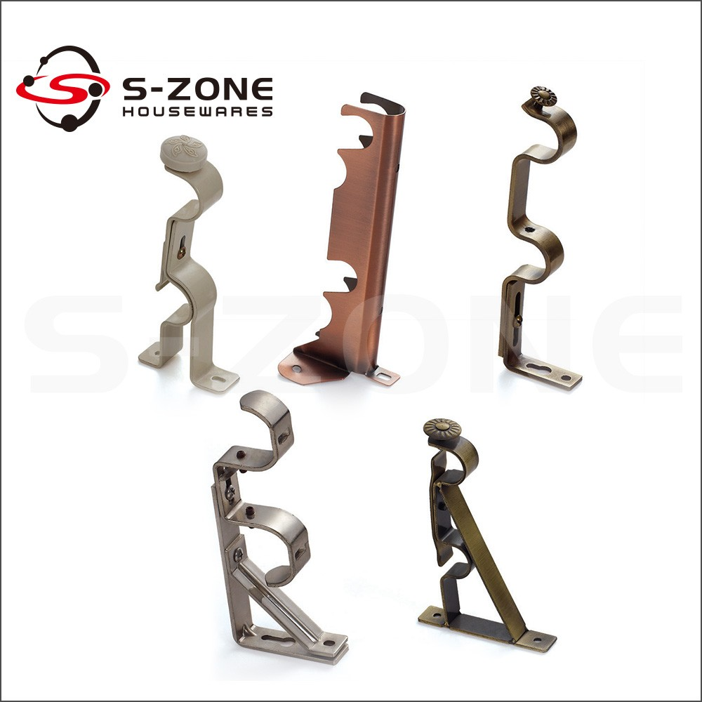 Connecting decorative pipe wall mount iron rod curtain bracket ... for Fancy Curtain Brackets  287fsj