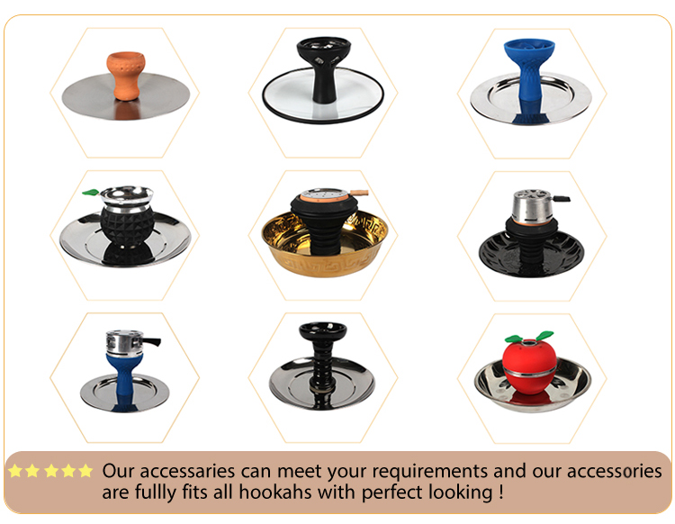 3 sets good quality charcoal holder basket hookah accessories