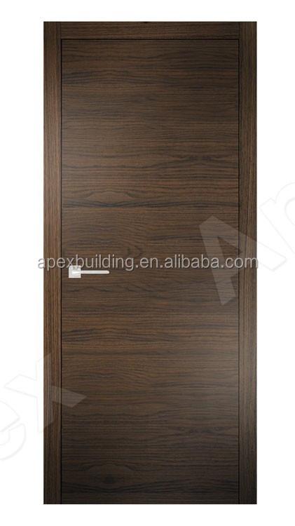Natural Veneered Wooden Flush Door Design Mdf Living Room: New Simplicity Brown Veneer Grain Flush Door For Hotel And