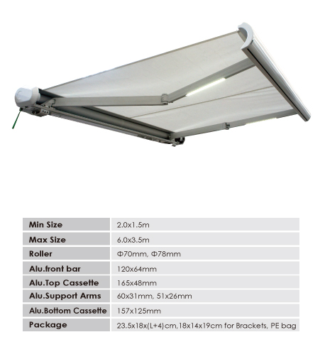 Best full Cassette Retractable Awning Polycarbonate Awning