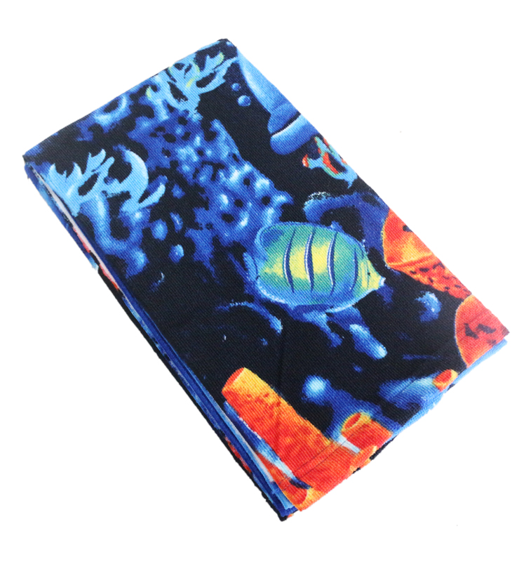 100% polyester microfiber beach towel with digital printing