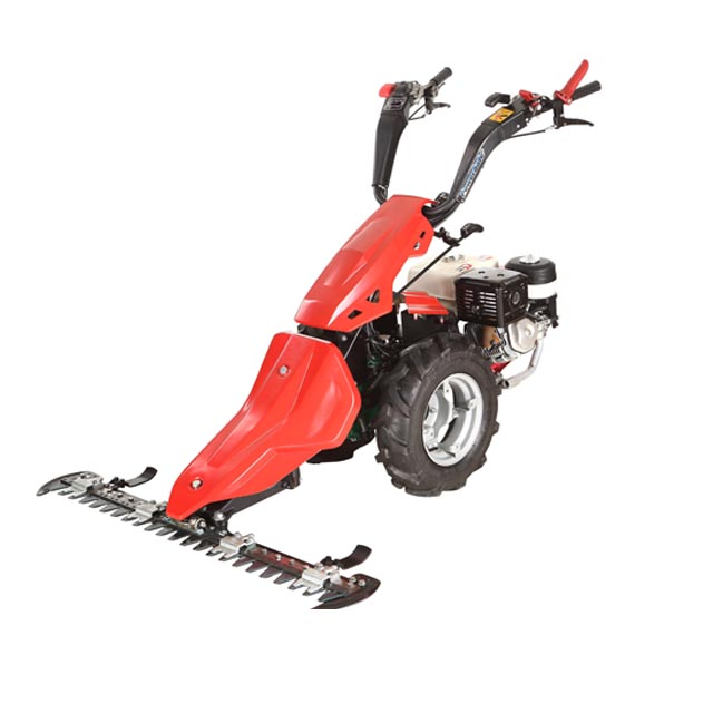 Italy technology Hongyue mini farm walk hehind tractor with sickle bar mower for sale