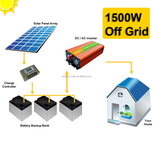 Hot sale solar panel system 1500w with battery