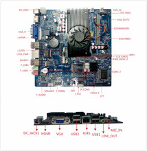 Factory price Very-high performance Intel 1037U DDR3 dc 12v motherboard , embedded motherboard ,1037u mini itx motherboard