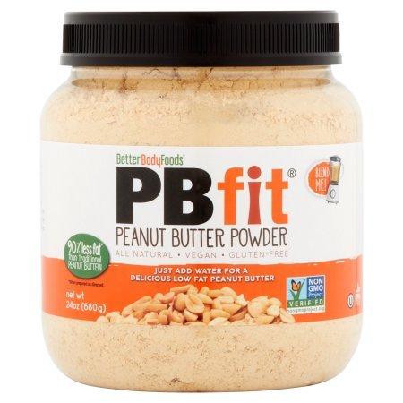 Betterbody Foods PB Fit Protein Powder, Peanut Butter, 8g Protein, 1.5 Lb, Pack of 3 + Cleaning Pads