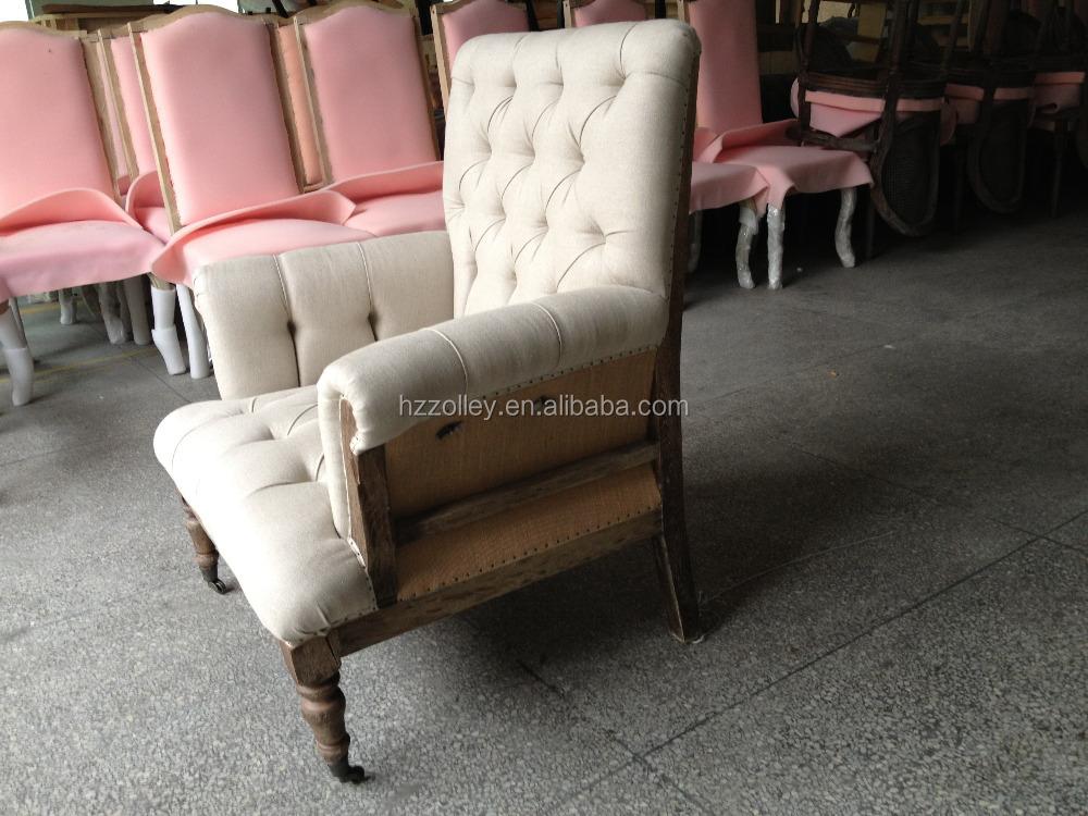 Tempo libero tessuto sedia vintage con ruote per il tempo libero