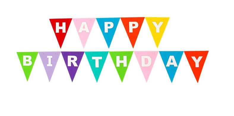 Happy Birthday Cake Bunting Template