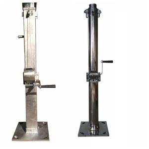 winch telescopic mast galvanized steel pole