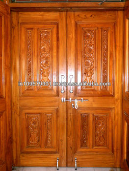 Main entrance solid wood hand carved double door buy for Take door designs