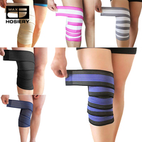 Powerlifting Elastic Bandage Leg Compression Calf Knee Support Brace Strap knee wraps Sports Safety