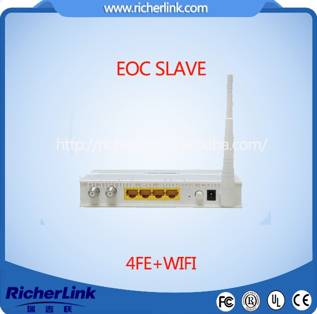 4FE ports eoc slave with wifi ethernet over coax