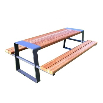 Admirable Outdoor Park Plastic Wood Picnic Table Bench Set With Metal Legs Buy Picnic Table Bench Set With Metal Legs Wooden Picnic Table And Bench Outdoor Squirreltailoven Fun Painted Chair Ideas Images Squirreltailovenorg