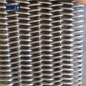 AISI stainless steel spiral conveyor Belts used in cooling system
