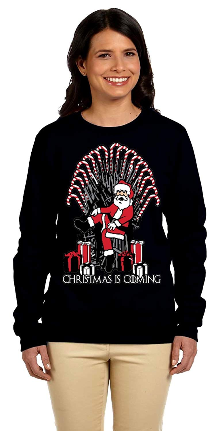 2bd29598976 YM Wear Women s Christmas is Coming Plus Size Ugly Christmas Sweater  Sweatshirt
