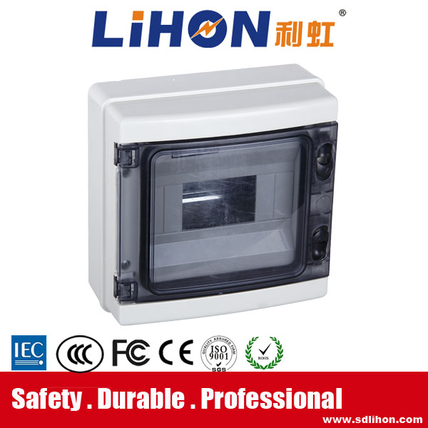 Surface mount transparet PC cover fireproof electric junction box ip65