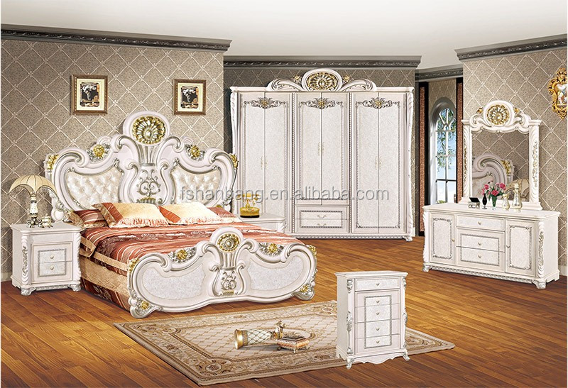 Very Cheap Price Antique White Bedroom Furniture Set