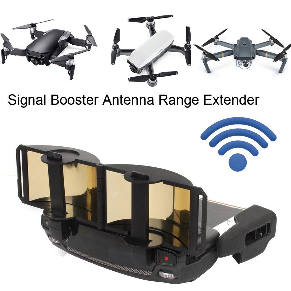 Littleice Remote control Signal Extender Amplifier Antenna Range Booster for DJI Mavic AIR (Gold)