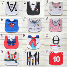 12 styles wholesale lovely baby saliva towel kids waterproof Bib infant 100 cotton Baby cartoon superman